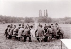 Fernmeldezug Coesfeld beim Feldkabelbau 1981