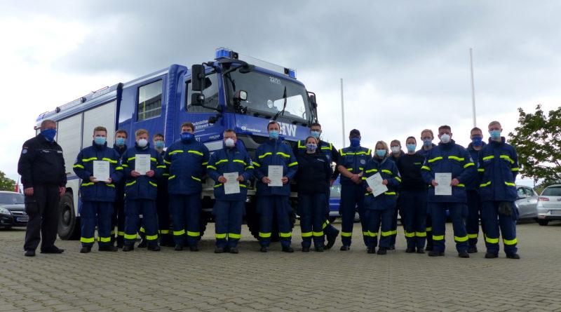 Das THW begrüßt 7 neue Einsatzkräfte für den Kreis Coesfeld